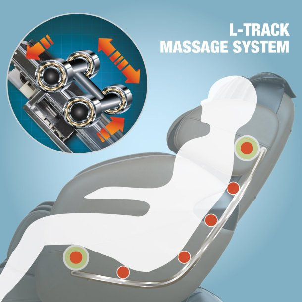 kahuna massage chair L track