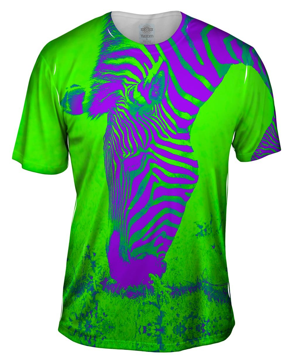 Neon Purple Green Zebra -Tagless- Mens Shirt S - Small, Medium, Large, XL, 2X, 3X, 4X