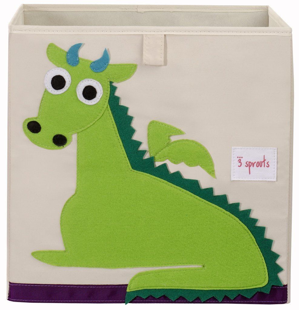 3 Sprouts Storage Box Green Dragon