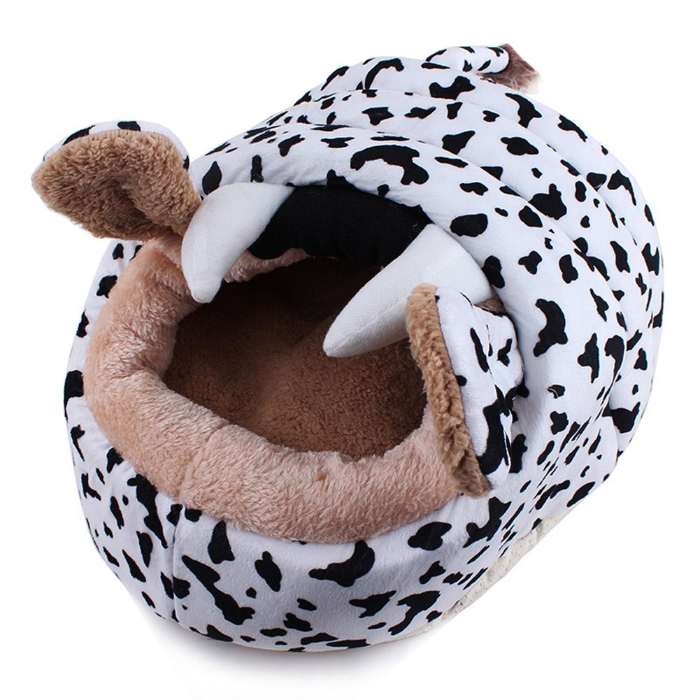 Cow Cotton Soft Sponge Comfortable Indoor Sleeping Bag Portable Pet Dog Cat  Kitty Waterproof Bed House