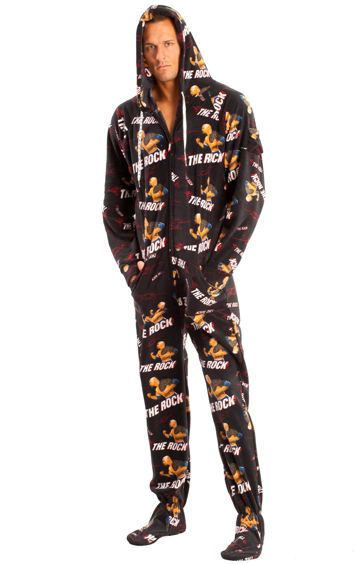 Jumpin Jammerz WWE The Rock Adult onesie
