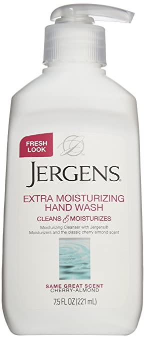 Jergens Extra Moisturizing Liquid Hand Wash Pump, 7.5 Fl Oz