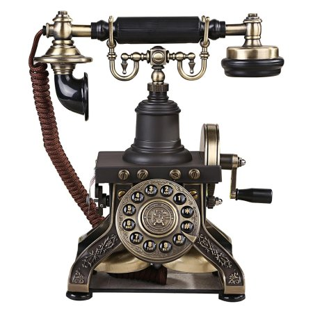 Retro Style Push Button Dial Table Telephone Set