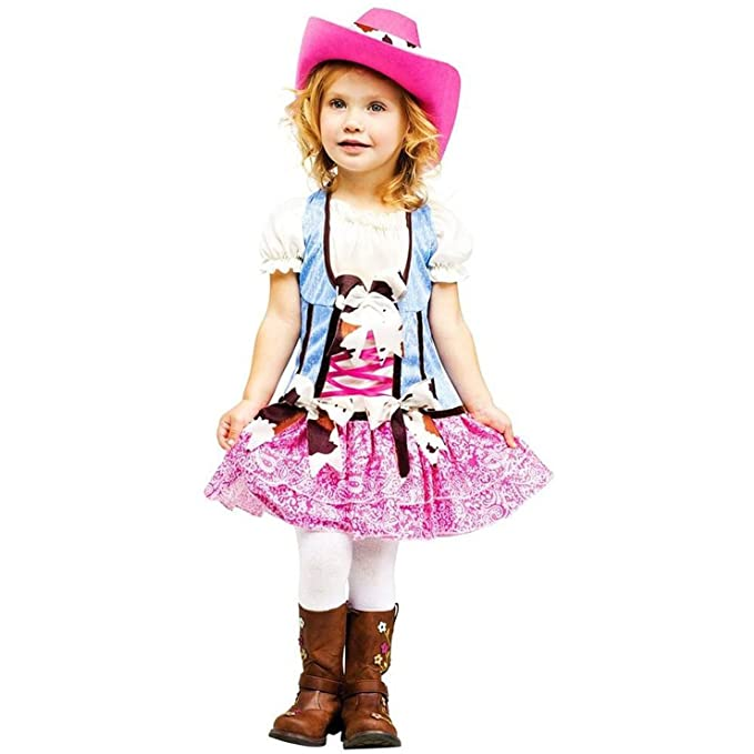 Fun World Costumes Baby Girl's Rodeo Sweetie Toddler Costume, Pink/Blue, Small