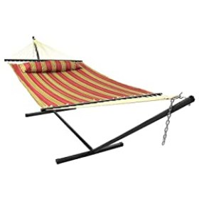 Sunnydaze Red Quilted Double Fabric Hammock Review