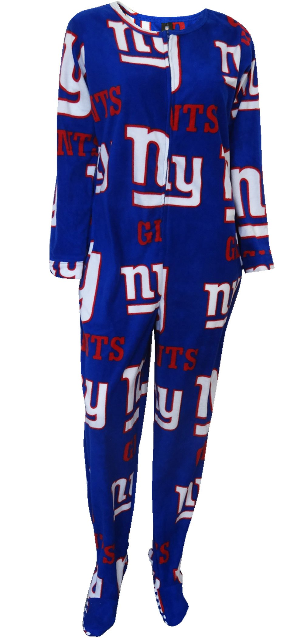 New York Giants Womens Royal Blue Onesie Footie Pajama for women