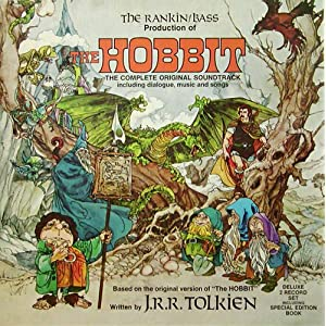 The Hobbit; Rankin Bass Production; Complete original soundtrack including Dialogue, Music and Songs; 2x LP boxed Set; Booklet; 1977