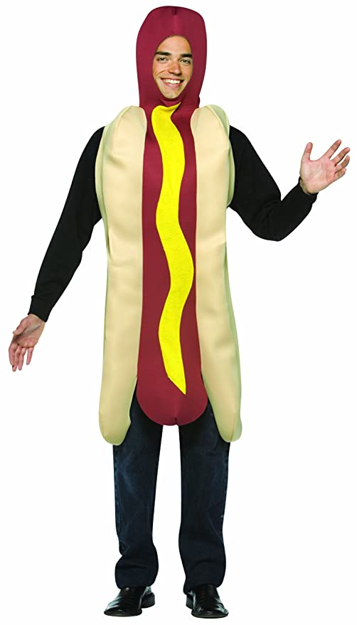 Rasta Imposta Lightweight Hot Dog Costume, Multi-Colored, One Size