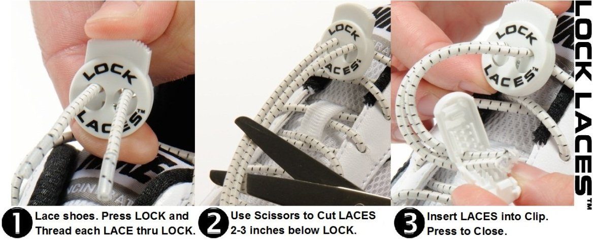 lock laces, shoelace lock, elastic shoe laces, no tie shoelaces, fast lock shoe laces, elastic, lock laces