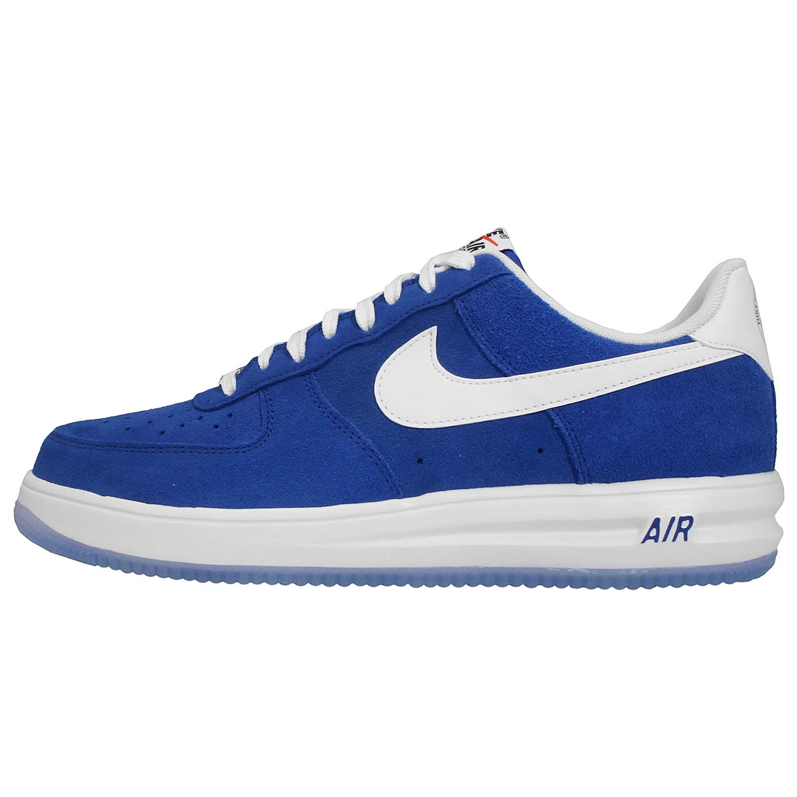 Nike Men's Lunar Force 1 14, GAME ROYAL/WHITE