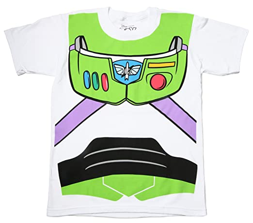 Toy Story Buzz Lightyear Astronaut Costume White Adult T-shirt Tee Large