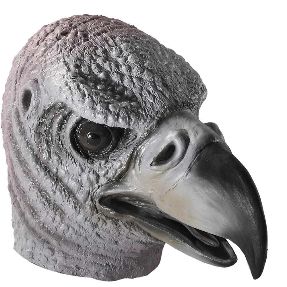 Latex Vulture Mask - One Size