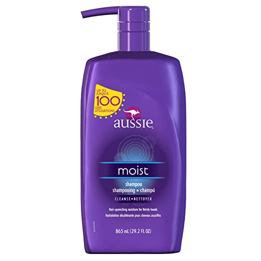Aussie Moist Shampoo with Pump, 29.2 Fl Oz