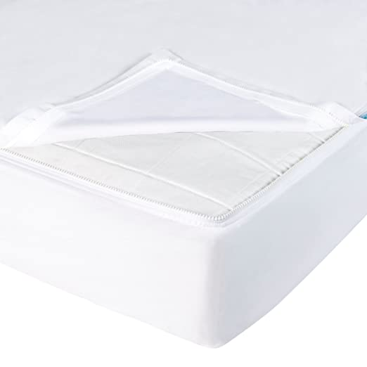 QuickZip Cotton Crib Sheet, 1 Zip-On Sheet + 1 Drop-in Base, White