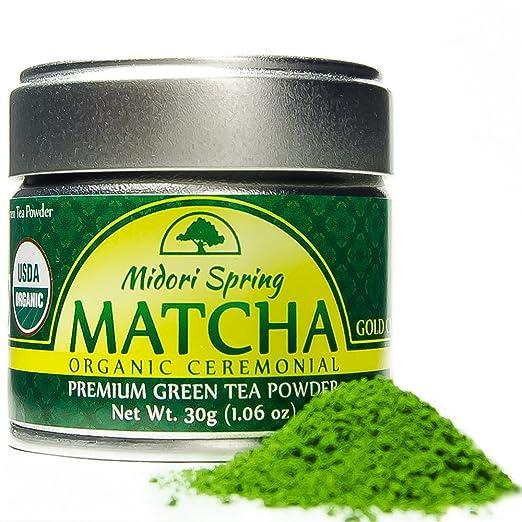Midori Spring Organic Ceremonial Matcha Gold Class Premium Japanese Green Tea Matcha Powder [Certified USDA, JAS, Kosher], 30g