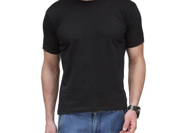 Scott Men's Biowash Cotton Round Neck T-shirt - Black