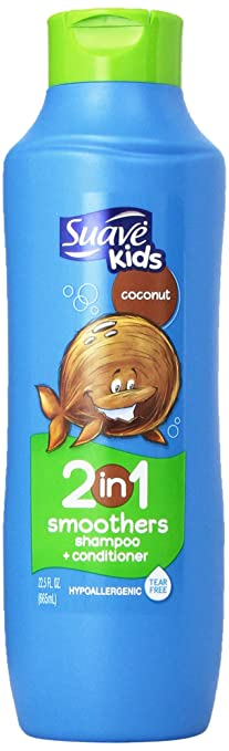 Suave Kids 2 in 1 Shampoo and Conditioner, Cowabunga Coconut, 22.5 Fl Oz