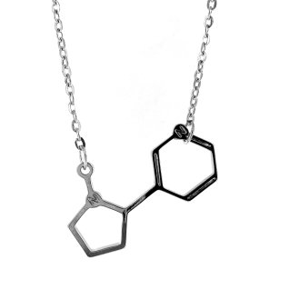 Nicotine Molecule Necklace, Dna, Chemistry, Unique And Quirky Gift Ideas Any Odd Person Will Appreciate (Fun Gifts!)