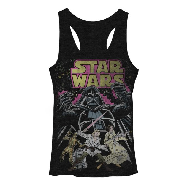 Comic Cover Young Womens Graphic Racerback Tank