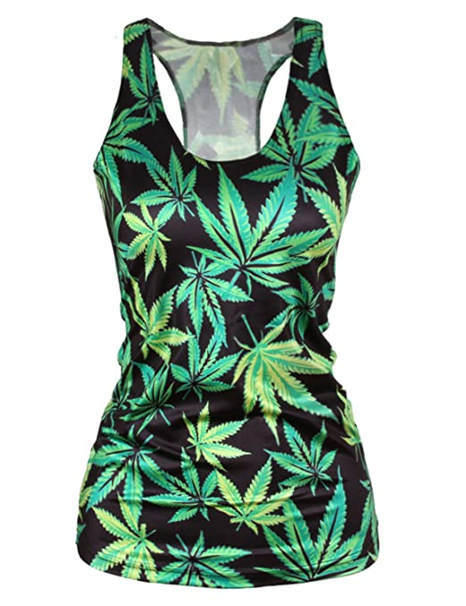 Ninimour- Women Digital Printed Sleeveless T Shirt Vest Tank Tops