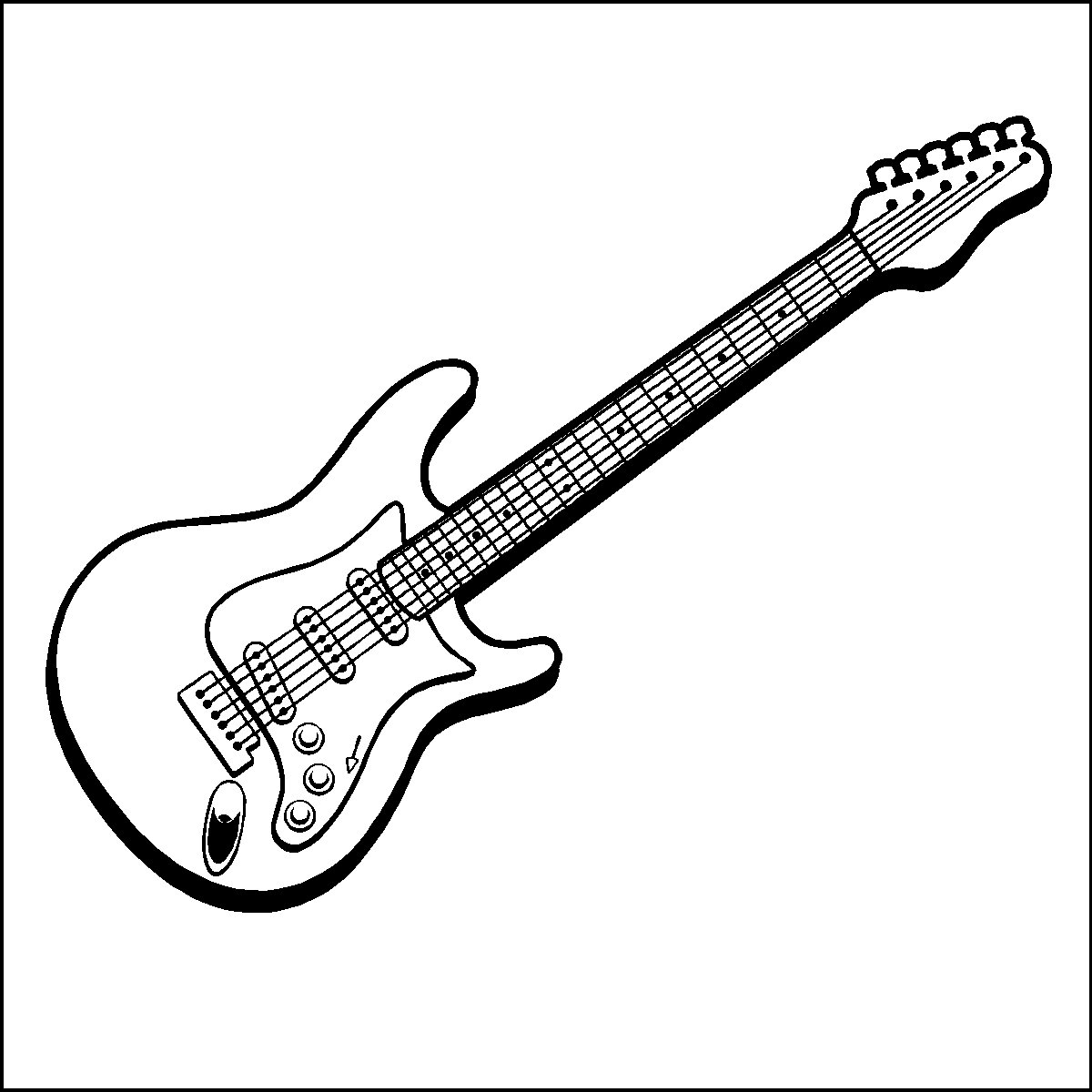 Free Coloring Pages Of Guitar Outline