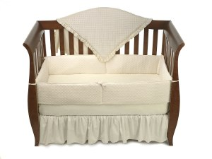 Baby Bedding - American Baby Company Heavenly Soft Minky Dot 4-Piece Crib Set