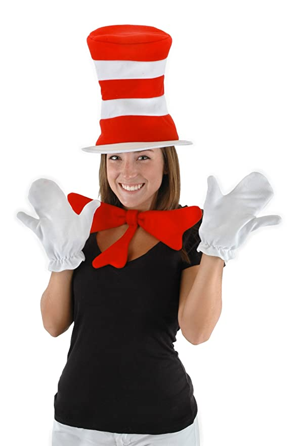 elope Dr Seuss Cat In The Hat Accessory Kit,Red/white,One Size