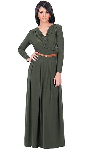 b842021745c KOH KOH Women s Batwing Dolman Sleeve Floral Print Elegant Maxi Dress just   54.95 (Reg  89.95) in sizes S-XXL!