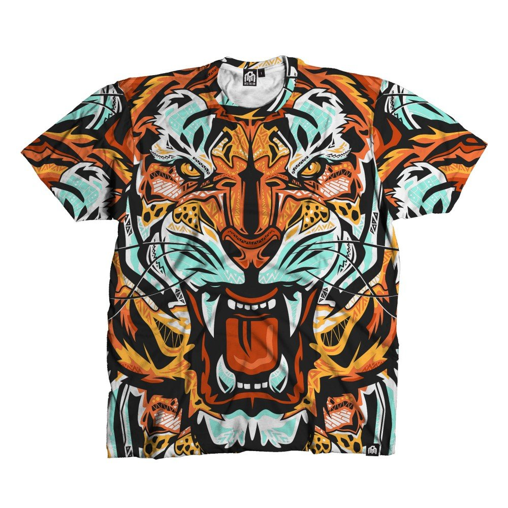 Fractal Tiger Rave Tee