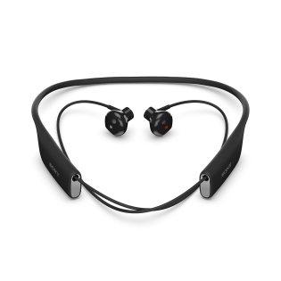 Behind the neck Bluetooth headphones of Sony