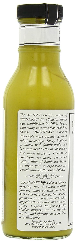 Briannas Dijon Honey Mustard Dressing 355ml British Shop