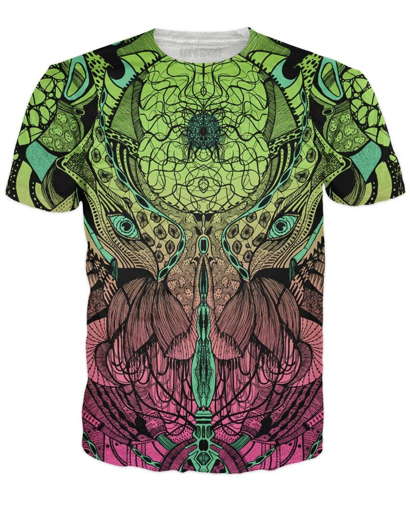 Intricate Design Aliens T-Shirt