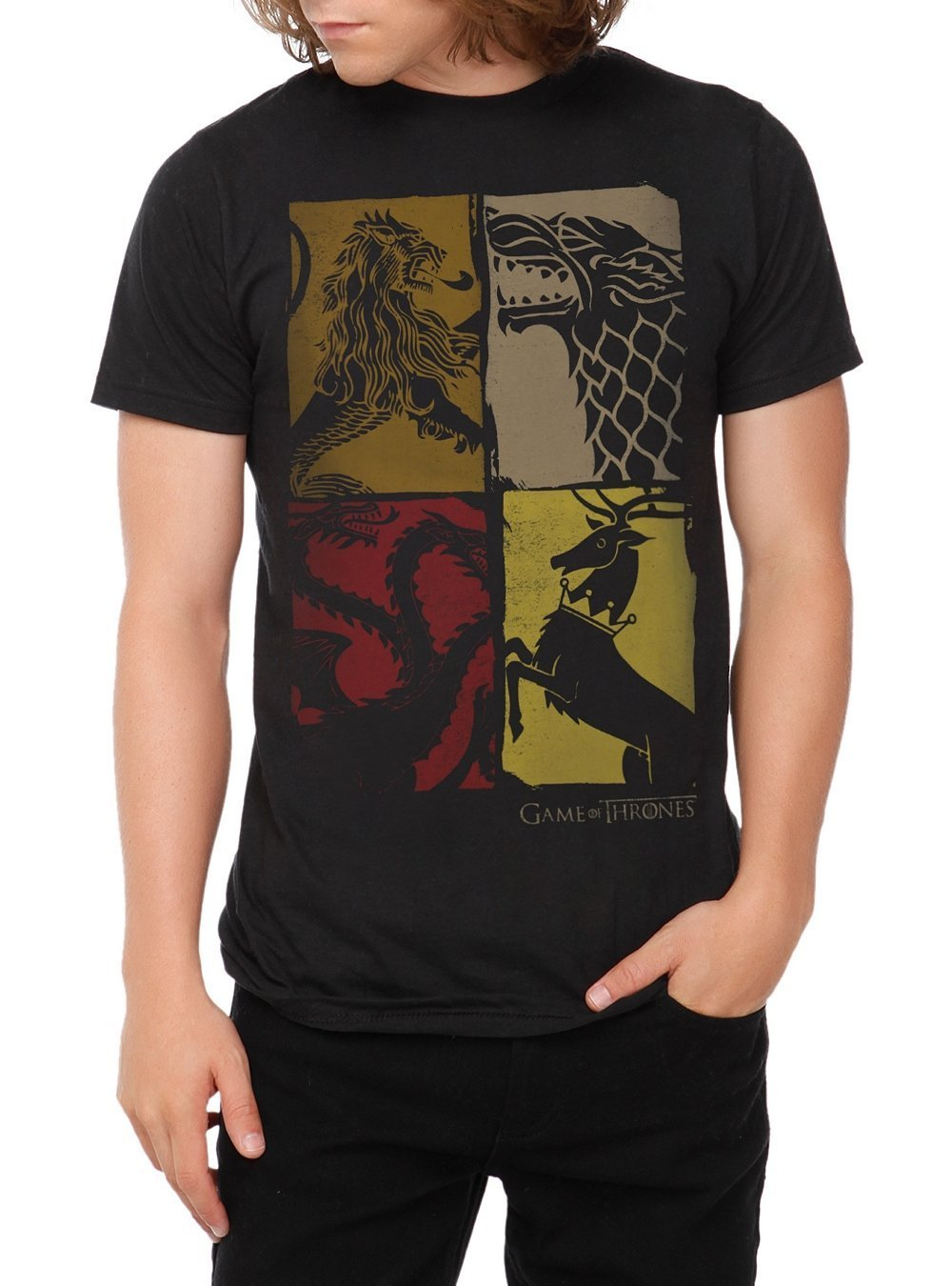 Four Houses Slim-Fit T-Shirt