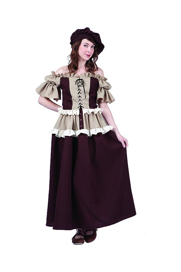 RG Costumes Women's Colonial Peasant Kathryn, Brown/Tan, Medium