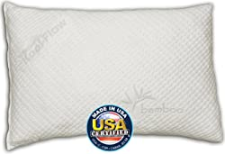Snuggle-Pedic Bamboo Shredded Queen Memory Foam Pillow