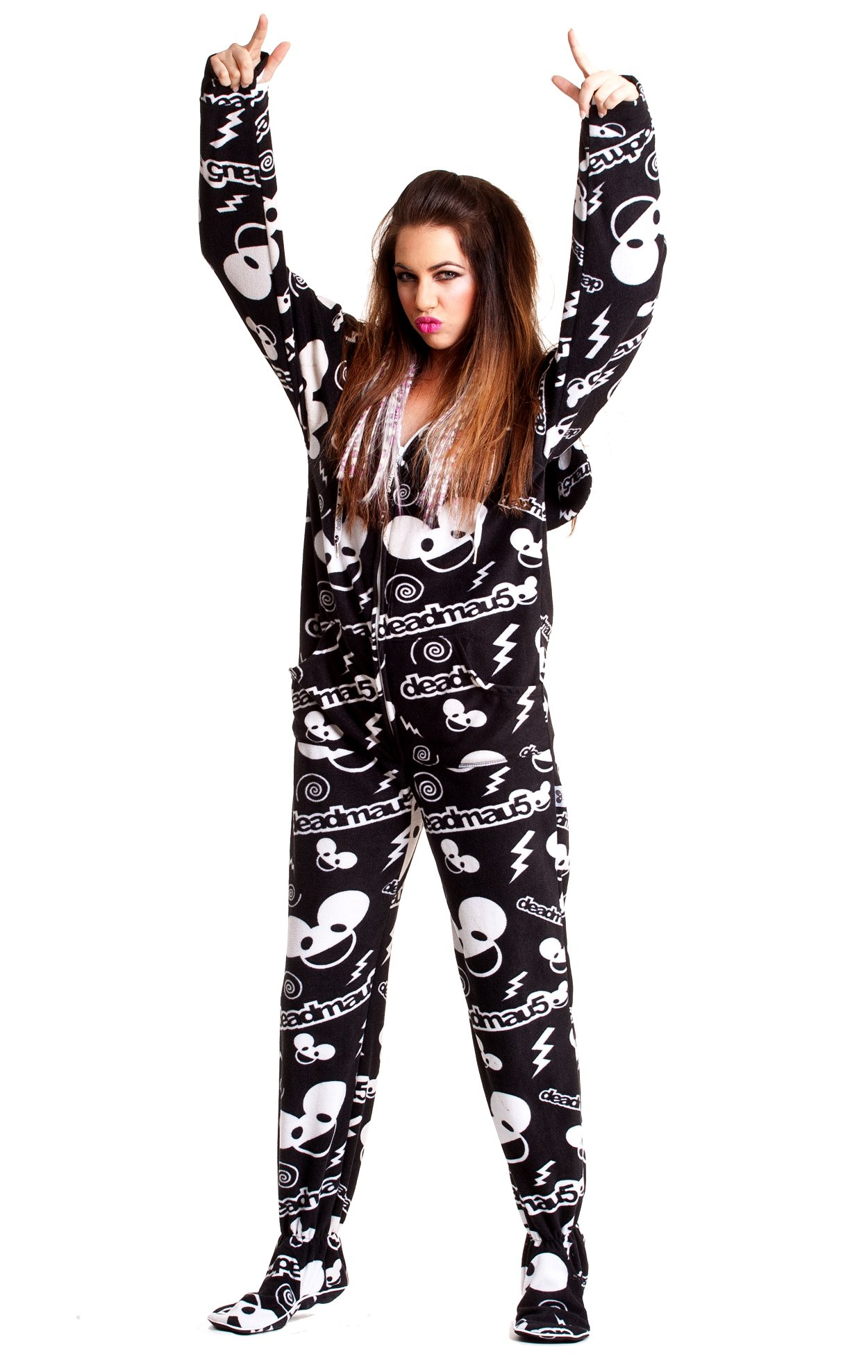 Jumpin Jammerz Deadmau5 Black Adult onesie