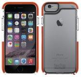 Funda Frame Tech21 modelo con marcos resaltados en naranja