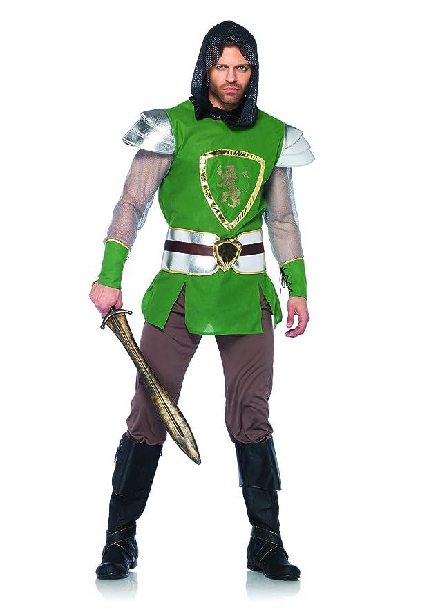 Leg Avenue Men's 4 Piece Queens Guard Costume, Green, X-Large