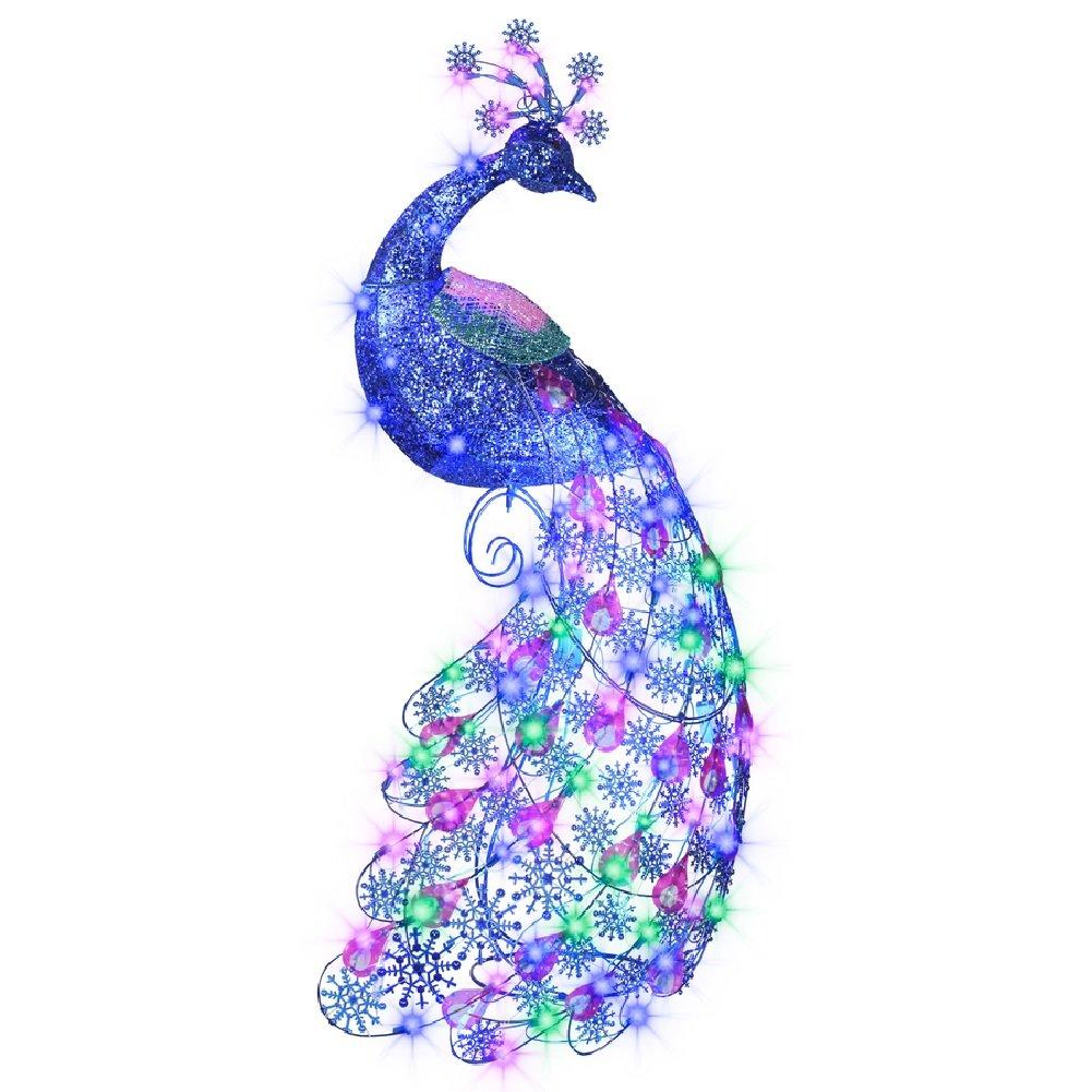 Peacock Christmas Yard Stakes Christmas Wikii
