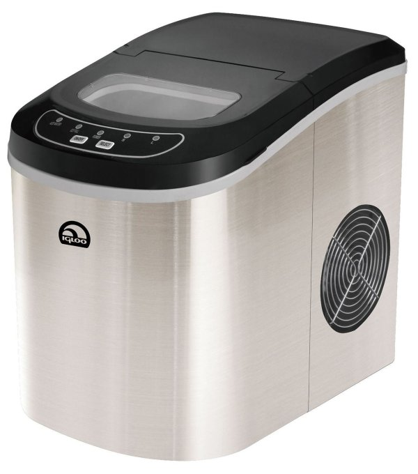 Ice Maker Portable Compact Stainless Steel Fresh Cube ...