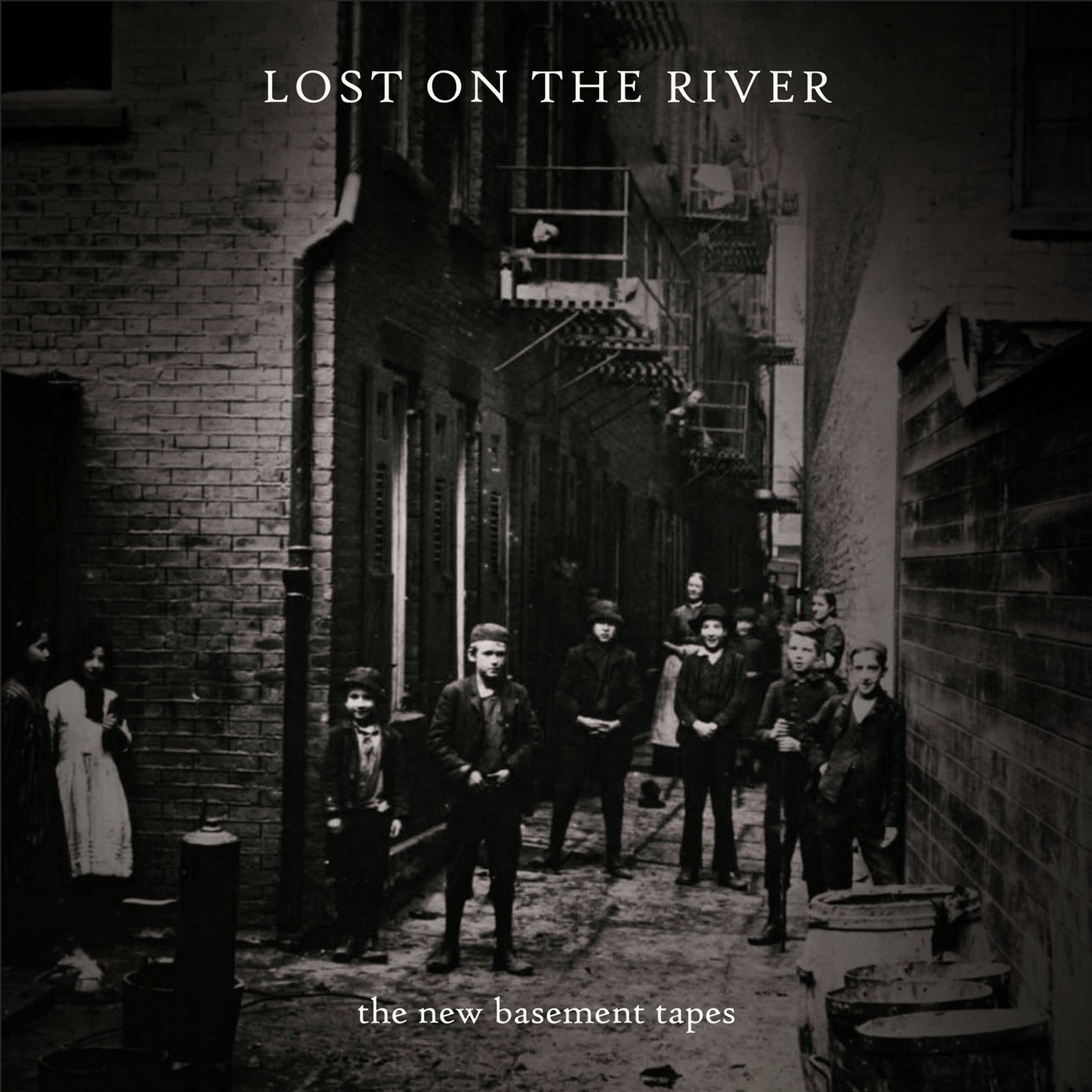 Music Poster Promo New Basement Tapes Band ~ Lost On The River ~ Bob Dylan