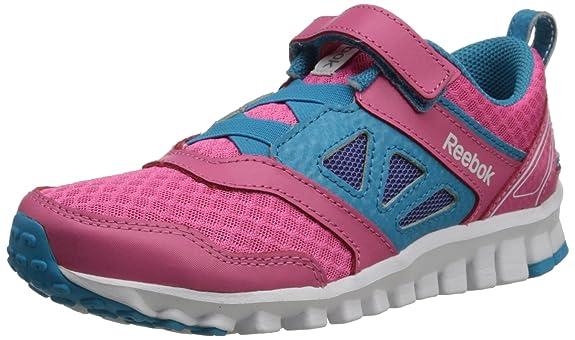 Reebok Realflex Speed 3.0 Running Shoe (Toddler/Little Kid/Big Kid),Happy Pink/Flight Blue/White,3 M US Little Kid