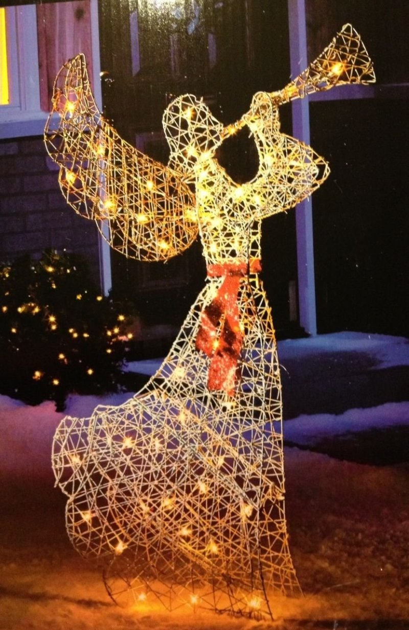 Lighted Christmas Angel Yard Decor Billingsblessingbags Org