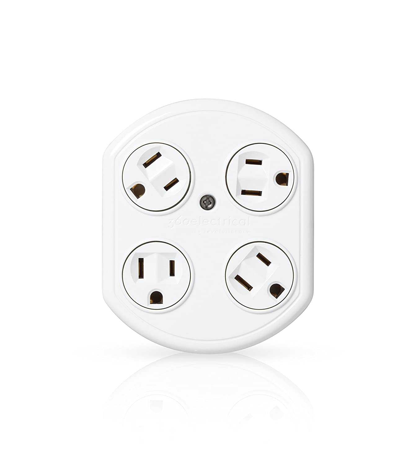 360 Electrical W 4 Outlet Rotating Adapter New