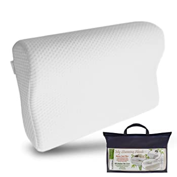 My Stunning Abode Memory Foam Neck Pillow With Soft Bamboo Fiber Cover