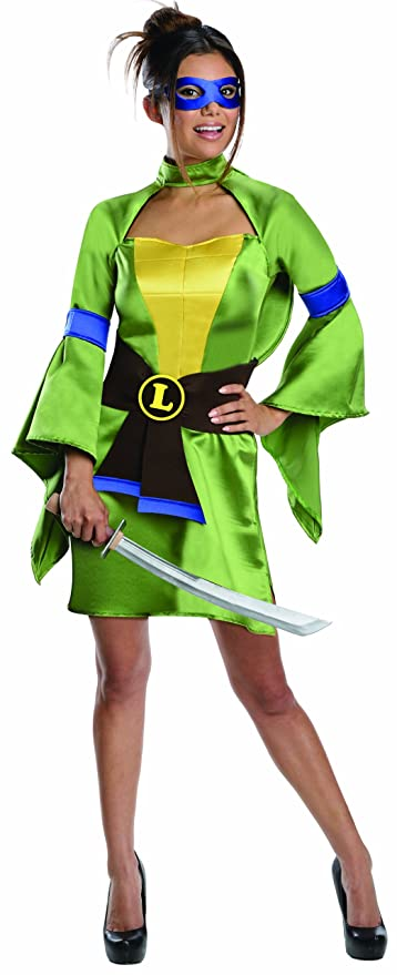 Secret Wishes Teenage Mutant Ninja Turtles, Leonardo Costume, Green, X-Small