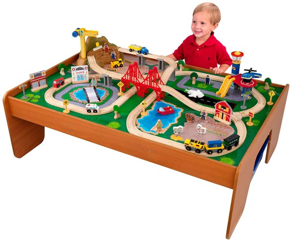 Train set table for a toddler
