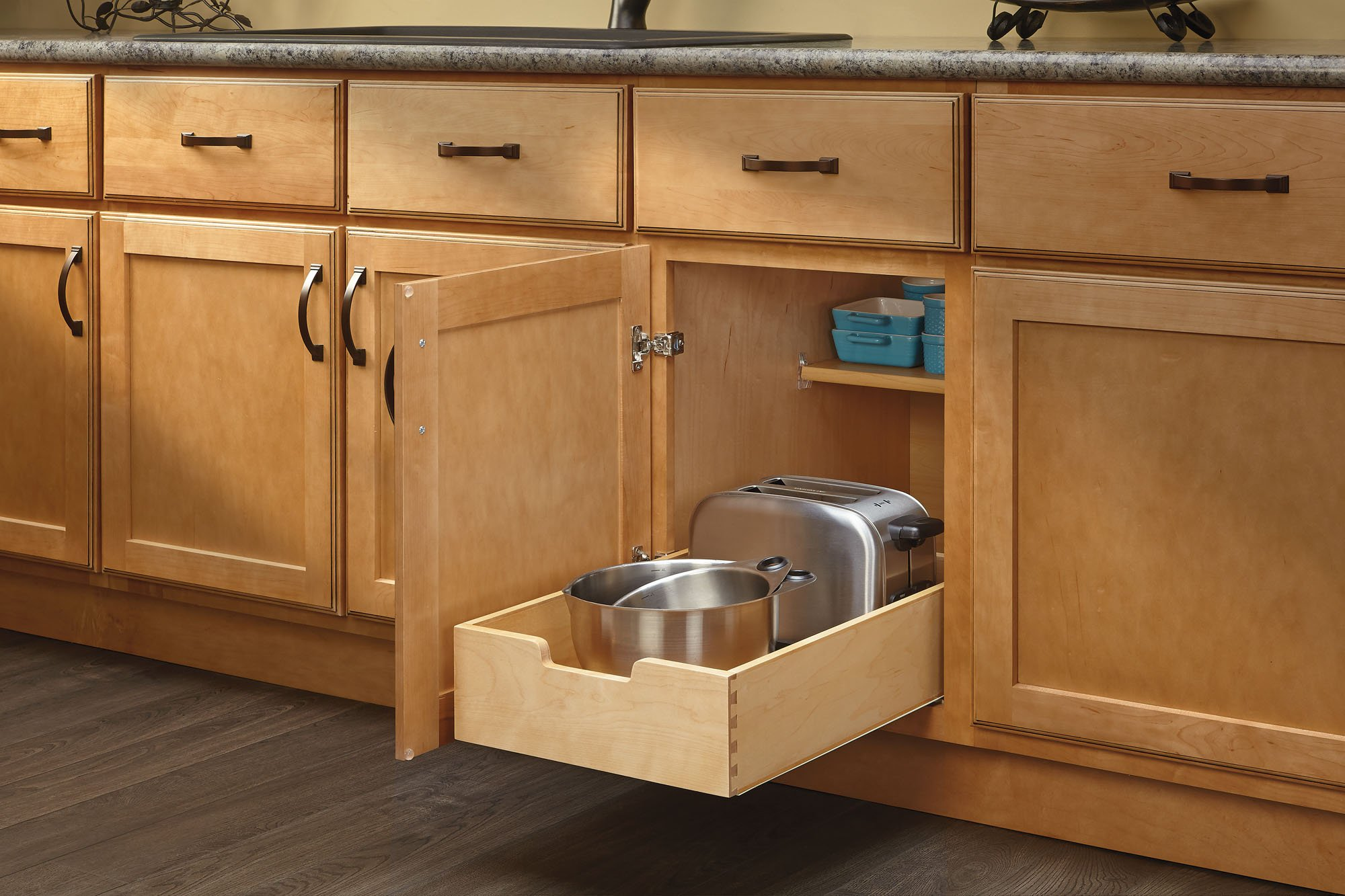 Medium Wood Base Cabinet Pull-Out