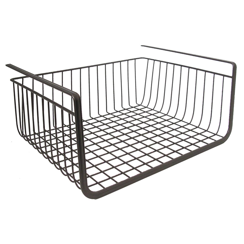 Under Shelf Basket Storage Space Saving Steel Bronze