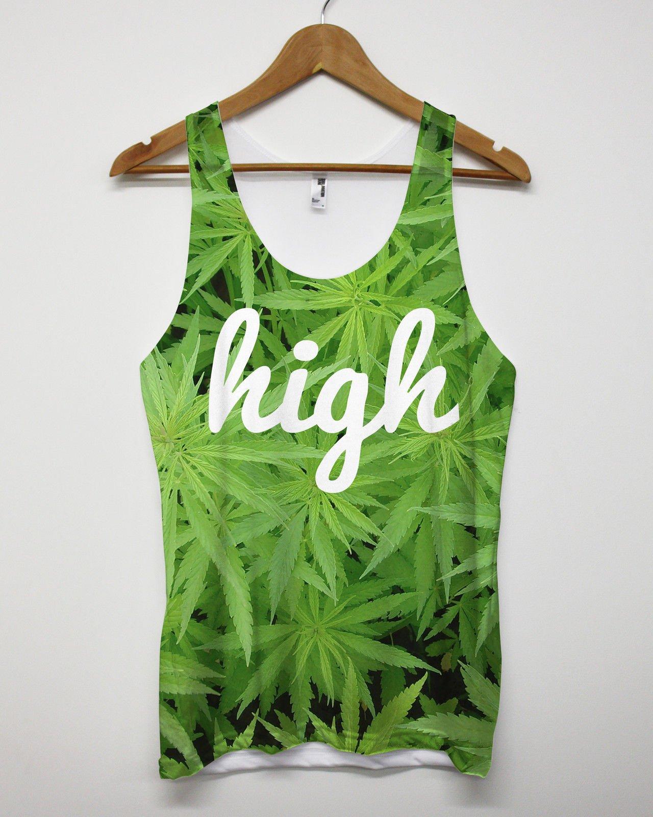 Inct Men's High Cannabis All Over Print Tank